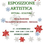 locandina esposizione artistica resarte dicembre 2012